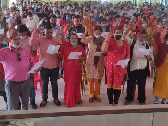 दाङमा नेपाल-खनाल समुहको जिल्ला कमिटिको सपथ ग्रहण ! 11