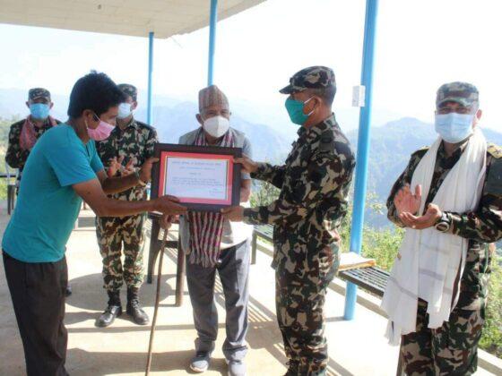 नेपाली सेनाद्वारा छिल्लीकोटको कालिका मालिका मन्दिरमा भौतिक संरचना निर्माण गरि हस्तान्तरण 12